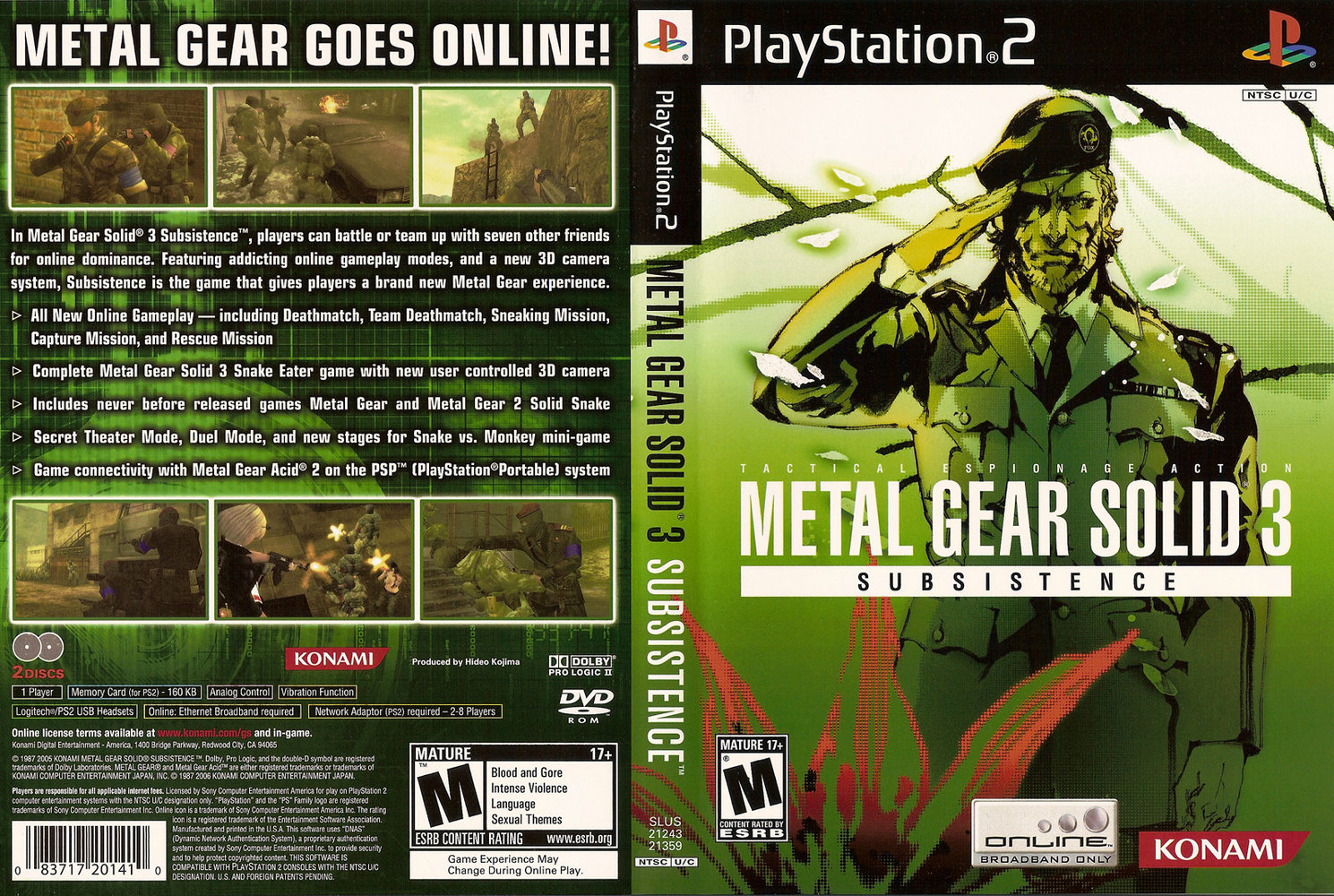 Metal Gear Solid 3 Subsistence (Ps2) Metal_gear_solid_3_subsistence_dvd_ntsc-cdcovers_cc-front1